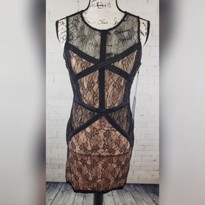 🆕️ NWT WOW Couture Lace Bodycon Dress Large